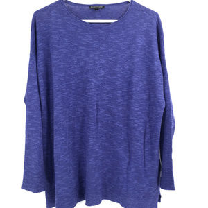 Eileen Fisher pull over slub linen sweater XS